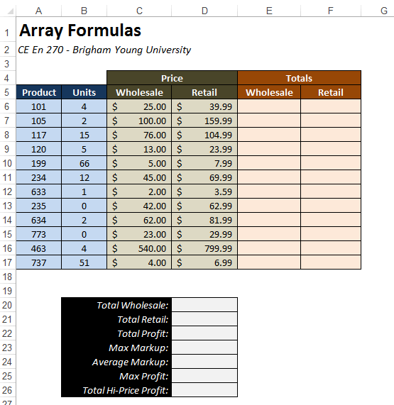 Vba Primer. The Workbook Is Designed To Perform Calculations Associated With Sale Of A Set Products Each Column Represents Product Id In. Worksheet. Worksheet Goalseek Vba At Clickcart.co